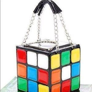 Patent Leather Rubiks Cube Small Handbag/Tote ~ LN